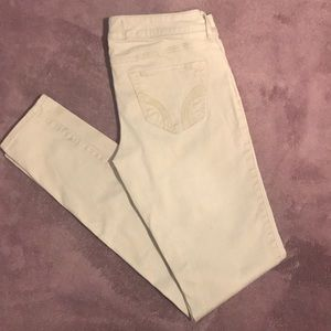 🔥4/20! Hollister off white skinny jeans